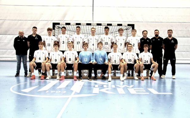THW Team U17 mit Trainern