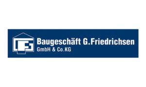 Sponsorenlogo BAUGESCHÄFT G. FRIEDRICHSEN GmbH & Co. KG